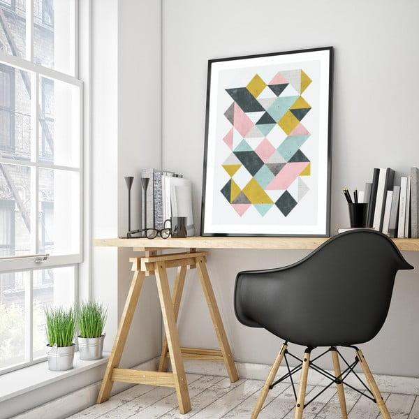 Plakát v dřevěném rámu , 38x28 cm