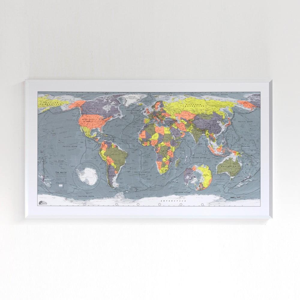 Mapa světa v průhledném pouzdru The Future Mapping Company Classic World Map, 130x72cm