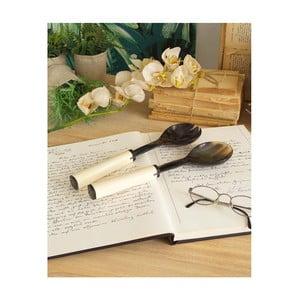 Sada 2 servírovacích lžic z kosti a rohu Orchidea Milano Horn and Bone