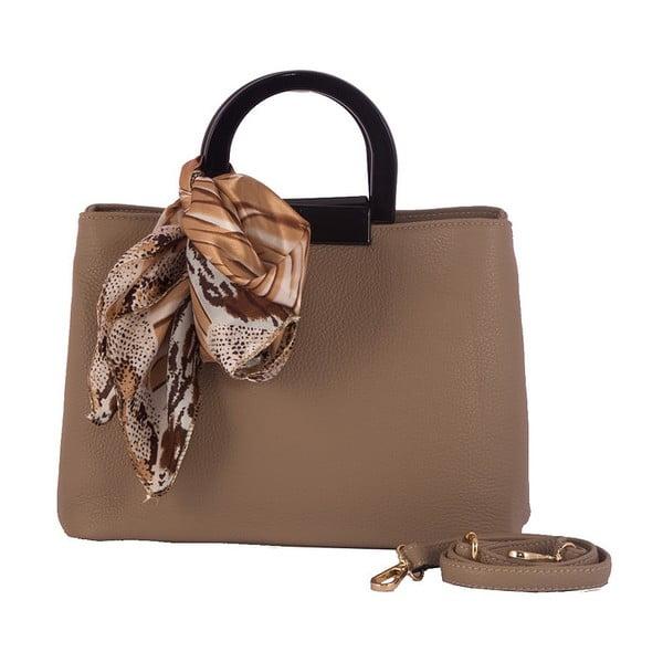 Béžová kabelka z pravé kůže Andrea Cardone Angelo