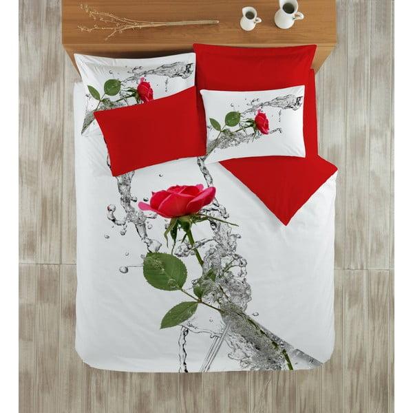 Povlečení s prostěradlem Red Rose, 200x220 cm