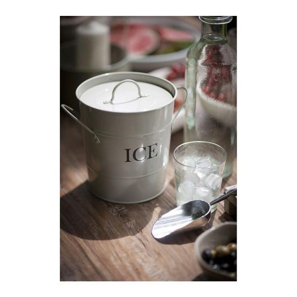 Bílý kyblík na led s lopatkou Garden Trading Ice Garden