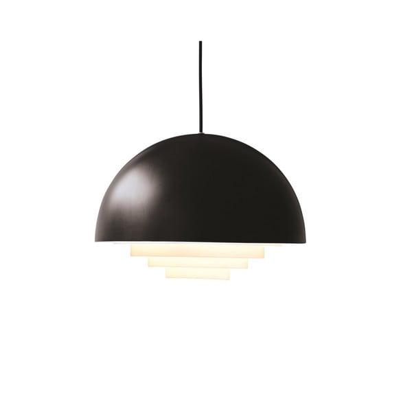 Černé závěsné světlo Herstal Motown