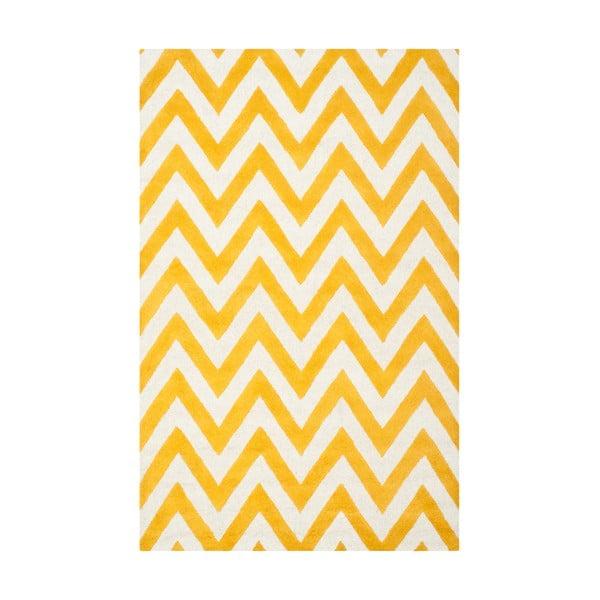 Stella sárga gyapjú szőnyeg, 152 x 243 cm - Safavieh