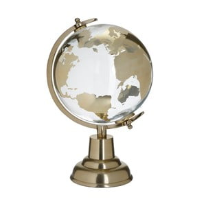 Skleněný dekorativní globus ve zlaté barvě InArt