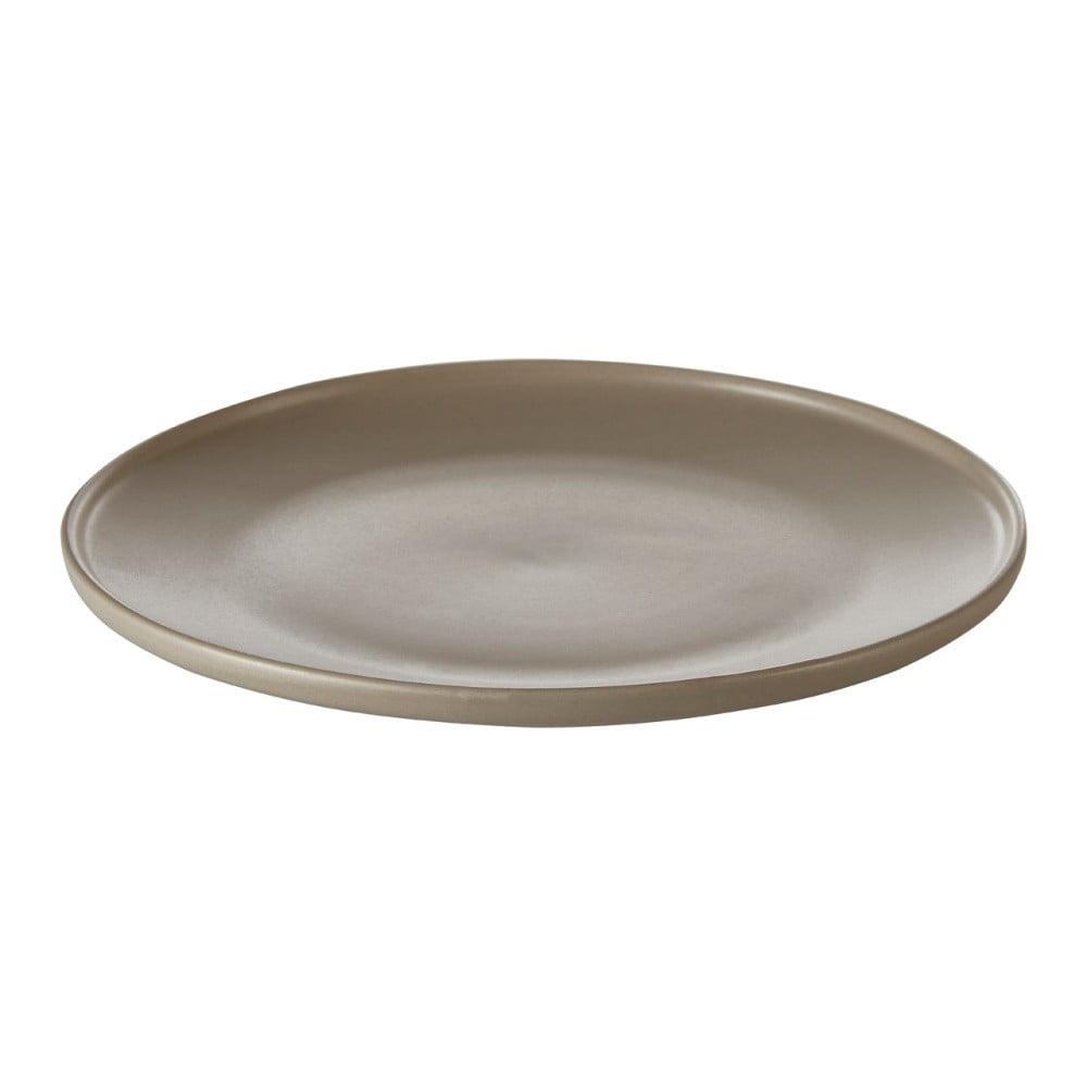 Hnědý kameninový talíř Premier Housewares Malmo, Ø 18 cm