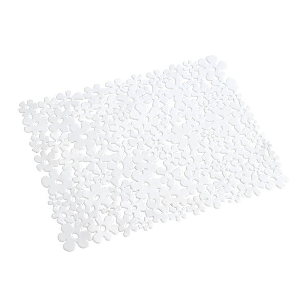 Suport pentru chiuvetă Wenko Sink Mat Flower, 31 x 26 cm, alb