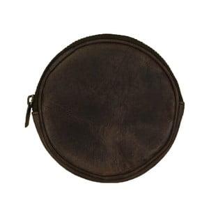 Tmavě hnědé kožené kulatá taštička O My Bag Luna