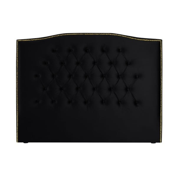 Černé čelo postele Mazzini Sofas Anette, 200 x 120 cm