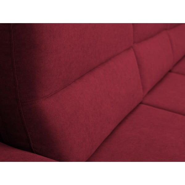 Červená rozkládací rohová pohovka Windsor & Co Sofas Omega, pravý roh