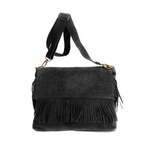 Černá kožená kabelka Tina Panicucci Pressa