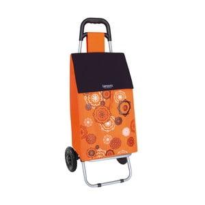 Nákupní taška na kolečkách Mandala Orange
