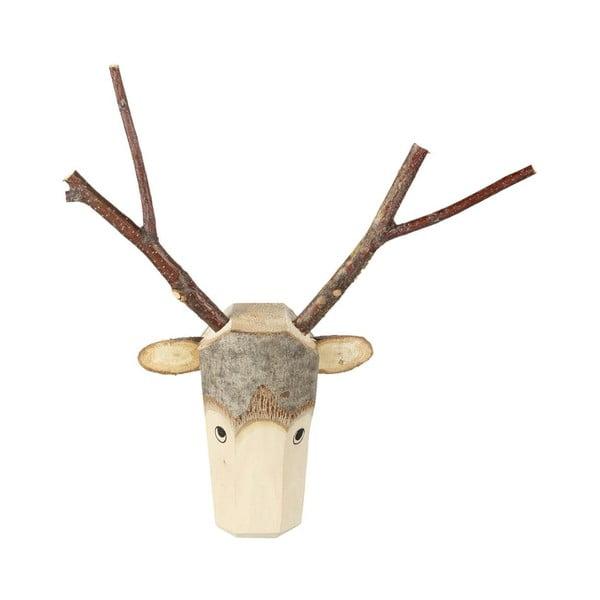 Nástěnná dřevěná dekorace Parlane Reindeer, výška35 cm