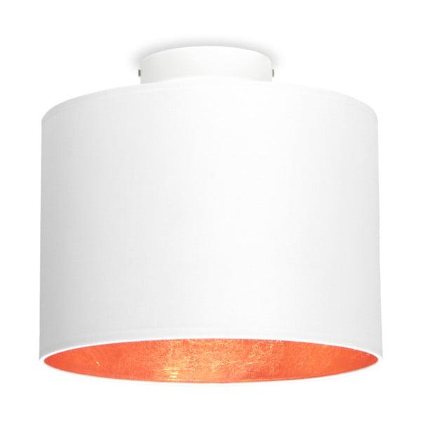 Bílé stropní svítidlo s detailem v měděné barvě Sotto Luce MIKA,⌀25cm