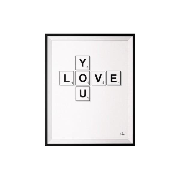Plakát Scrabble, 40x50 cm