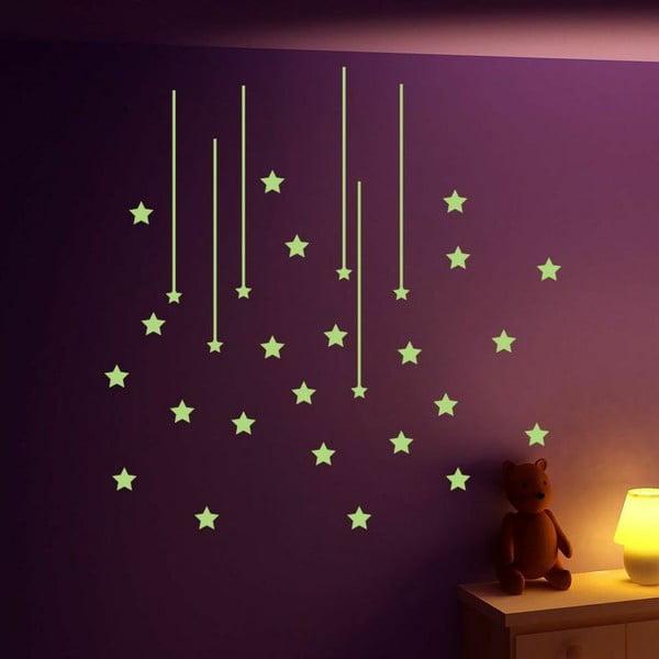 Ve tmě svítící samolepka Ambiance Cloud of Stars