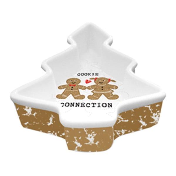Dekorativní mísa z kostního porcelánu s vánočním motivem PPD Cookie Connection
