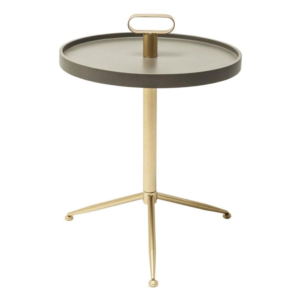 Šedo-zlatý odkládací stolek Kare Design Florida Tripod