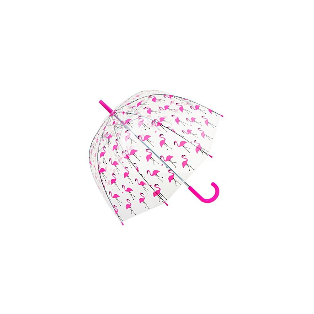 Dětský transparentní deštník Flamingo
