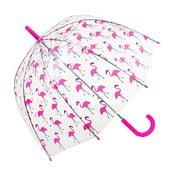 Dětský transparentní deštník Ambiance Flamingo, ⌀ 70 cm