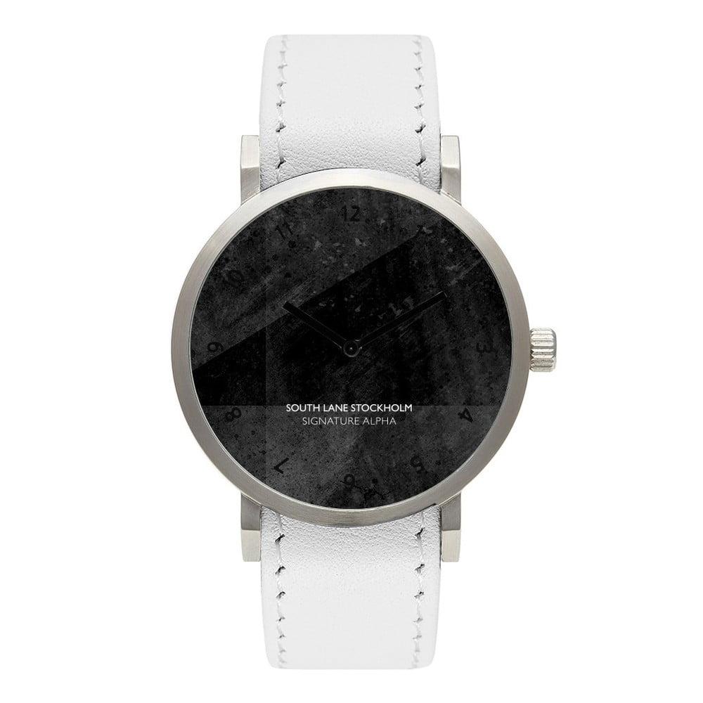 Unisex hodinky s bílým řemínkem South Lane Stockholm Signature Big