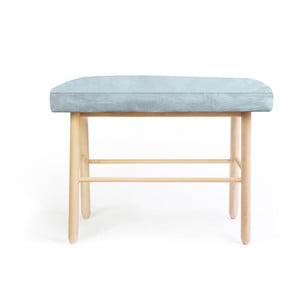 Stolička z borovicového dřeva ze sametovým potahem Velvet Atelier Sando