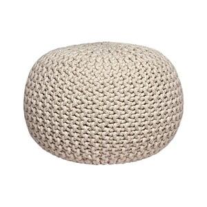 Krémový pletený puf LABEL51 Knitted