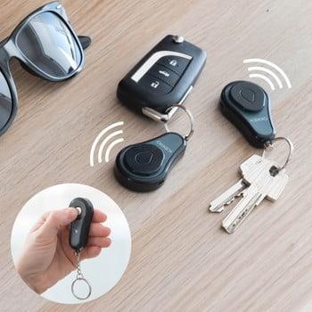 Set dispozitiv localizare chei și 2 brelocuri InnovaGoods Okkey imagine
