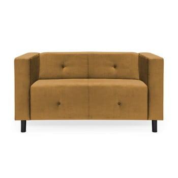 Canapea cu 2 locuri Vivonita Milo, maro – muștar de la Vivonita