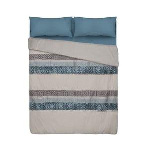Modrý přehoz přes postel Unimasa, 240 x 260 cm
