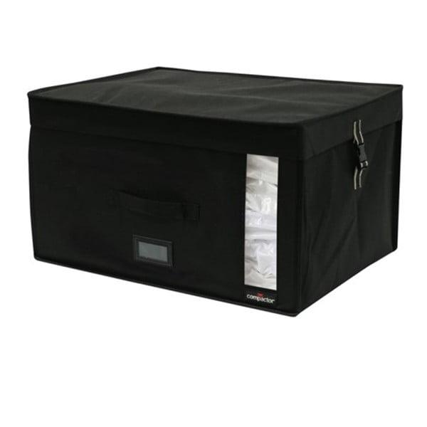 Černý úložný box s vakuovým obalem Compactor Infinity, objem 150 l