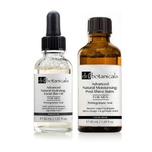 Set pleťového oleje a balzámu po holení pro muže Dr.Botanicals Pomegranate Noir Advanced