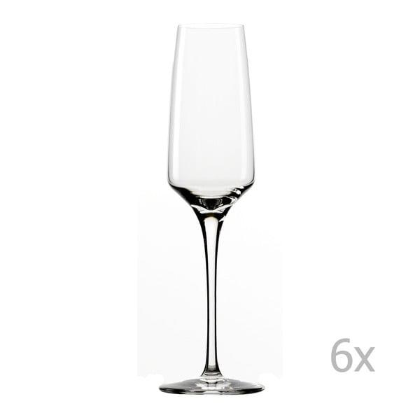 Sada 6 sklenic na šampaňské Stölzle Lausitz Experience Flute, 188 ml