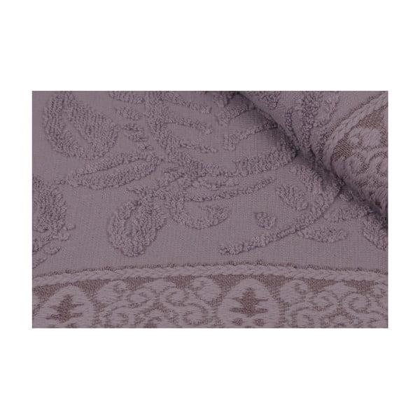 Sada 2 fialových bavlněných ručníků na ruce Catherine, 50 x 90 cm