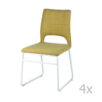 Set 4 scaune sømcasa Nessa, galben de la sømcasa