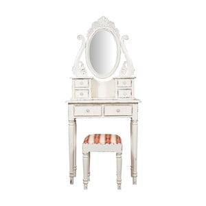Toaletní stolek z mahagonového dřeva se stoličkou Crido Consulting Charlotte