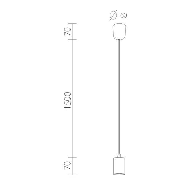 Závěsný kabel Cero, zlatá/bílá/zlatá