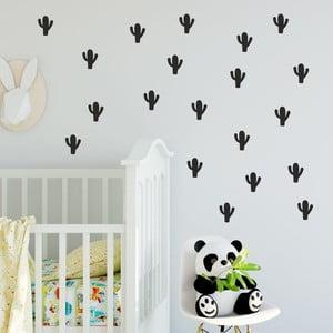 Set autocolante de perete North Carolina Scandinavian Home Decors Cactus, negru