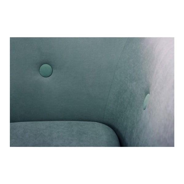 Tyrkysově modrá trojmístná pohovka Scandi by Stella Cadente Maison, pravý roh