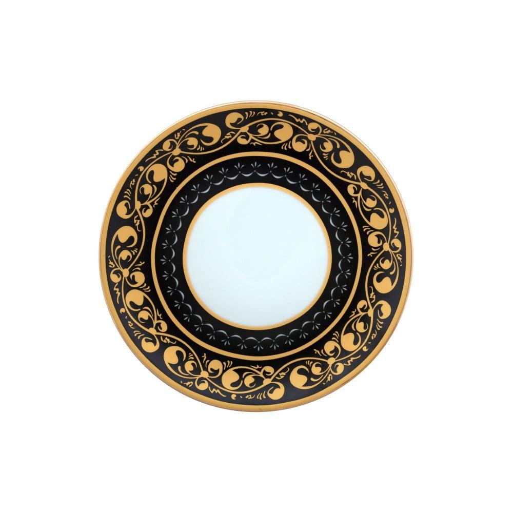Černobílý porcelánový talíř Vivas Royal, Ø23cm