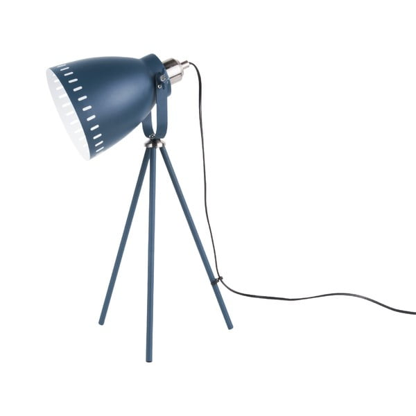 Ciemnoniebieska lampa stołowa Laitmotiv Mingle