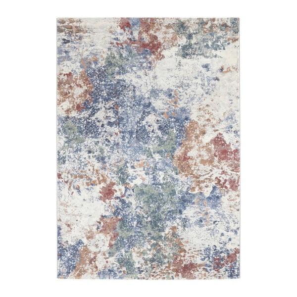 Covor Elle Decor Arty Fontaine, 80 x 150 cm, verde - albastru deschis