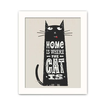 Tablou decorativ Cat, 28,5 x 23,5 cm imagine