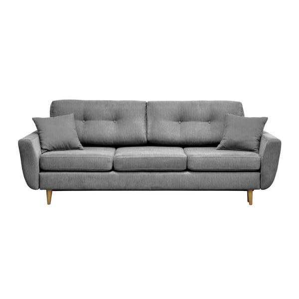 Rose szürke kihúzható kanapé világos lábakkal - Mazzini Sofas