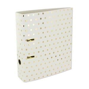 Desky na dokumenty Go Stationery Gold Polka Shimmer Cream, velká