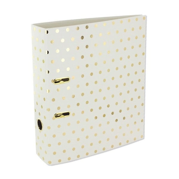 Biblioraft Go Stationery Gold Polka Shimmer Cream, mare