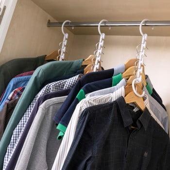 Set organizatoare suspendate pentru haine InnovaGoods imagine