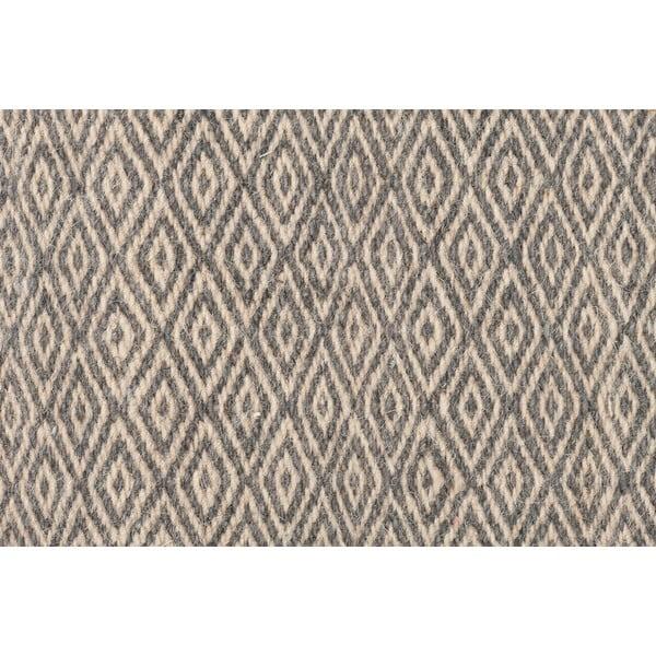 Vlněný koberec Kyla Grey, 80x150 cm