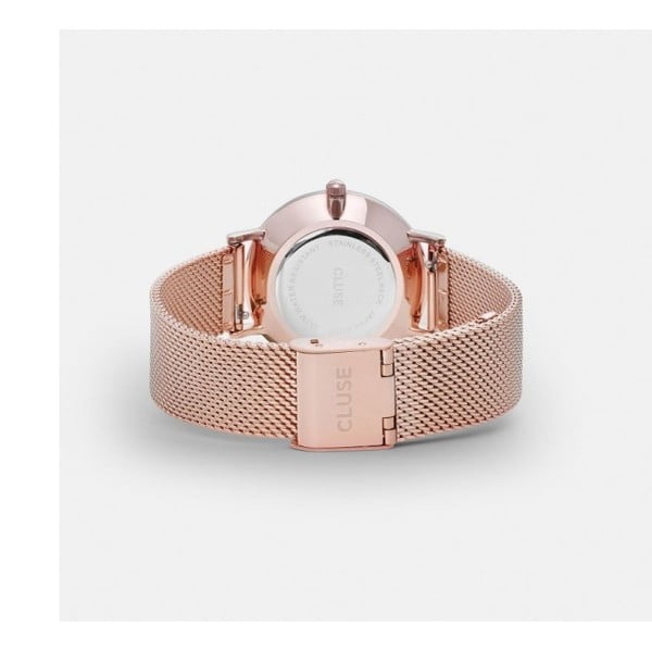 Dámské hodinky v barvě růžového zlata Cluse Minuit