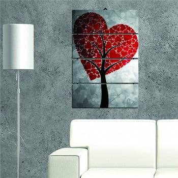 Tablou din mai multe piese Heart Tree, 34 x 55 cm